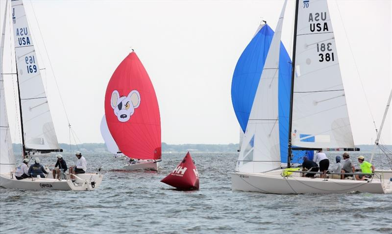 Empeiria (USA 169) currently leads the J/70 fleet - 2020 Helly Hansen NOOD Regatta Annapolis - Day 1 - photo © Will Keyworth