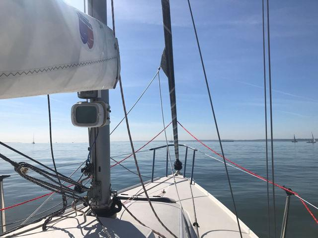 Drifting in the sunshine before the start of race 4 at the Dubarry Women's Open Keelboat Championship - photo © Louise Johnson