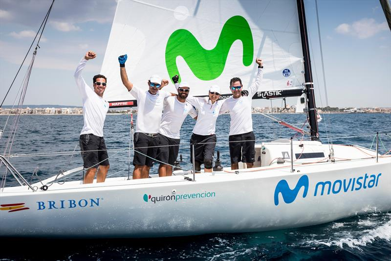 'Bribon Movistar', winner of  Herbalife Nutrition J80 class at the 37th Copa del Rey MAPFRE in Palma photo copyright María Muiña / Copa del Rey MAPFRE taken at Real Club Náutico de Palma and featuring the J80 class