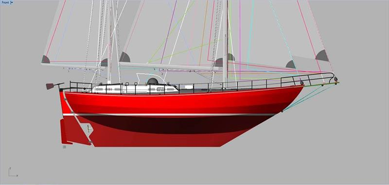 Profile view of the Joshua replica yacht - photo © McIntyre Adventure