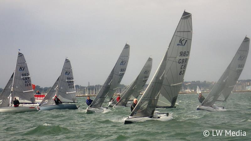 The fleet starts during the K1 Sea National at Lymington - photo © Liam Willis / LW Media