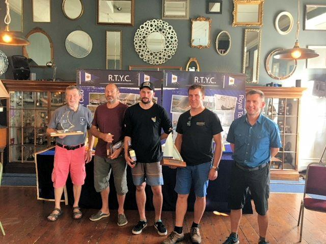 K1 National Championships prizewinners (L-R): Mike Commander (First Master), Guy Woodhouse (4th), Tom White (3rd), Paul Smalley (1st), Andrew Snell (2nd) - photo © Frances Commander