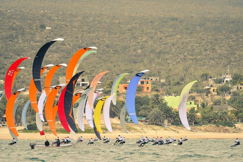 Seconds after the start  photo copyright Santiagro Grimm taken at  and featuring the Kiteboarding class
