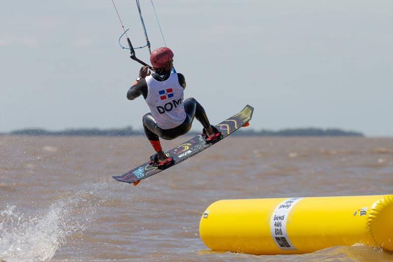 Deury Corniel (DOM) - Day 2 - Kiteboarding at the 2018 Youth Olympic Games - photo © Matias Capizzano / World Sailing