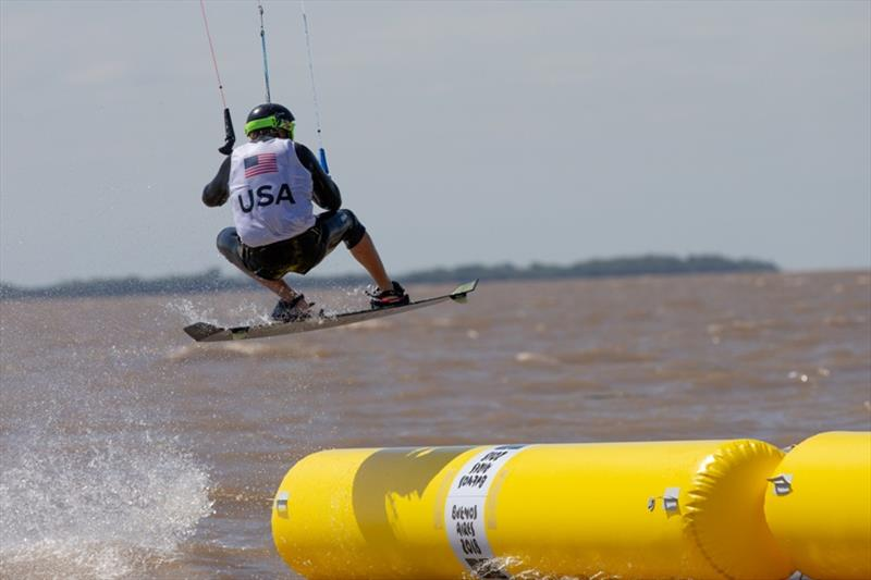 Cameron Maramenides (USA) - Day 2 - Kiteboarding at the 2018 Youth Olympic Games - photo © Matias Capizzano / World Sailing