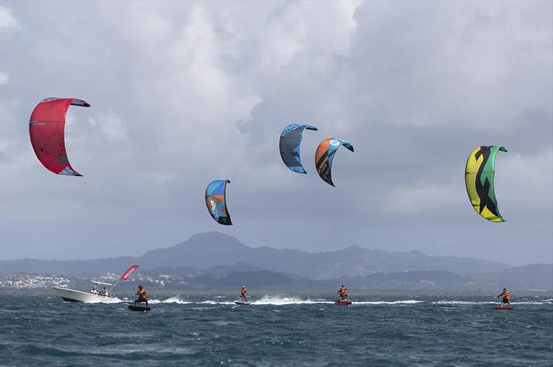 The KiteFoilers are showing incredible pace here. But are they faster than GC32s - 2018 Martinique Flying Regatta - photo © Jean-Marie Liot / Martinique Flying Regatta