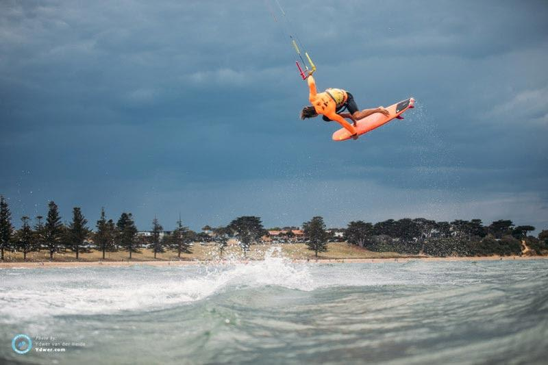 Camille on day one at the KSWT Torquay - 2018 GKA Kite-Surf World Tour Torquay photo copyright Ydwer van der Heide taken at  and featuring the Kiteboarding class