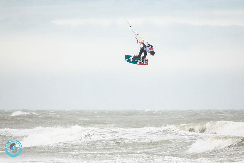 Maxime Chabloz sends it on every trick! A cruel blow for him today, but second position is a great start to the championship - GKA Freestyle World Cup Leucate - photo © Svetlana Romantsova