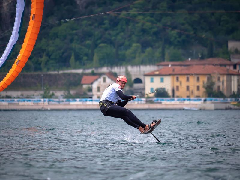 Connor Bainbridge in action at the Formula Kite World Championships 2019 photo copyright Oliver Hartas taken at  and featuring the Kiteboarding class
