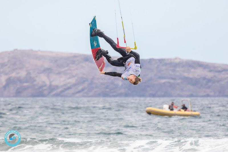 Late in the day - Liam delivers - GKA Freestyle World Cup Gran Canaria photo copyright Svetlana Romantsova taken at  and featuring the Kiteboarding class