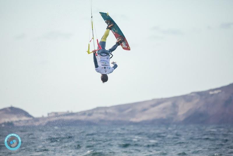 Set Teixeira gave Carlos a real run for his money in their heat. They stuck highest scoring tricks of the day between them - GKA Freestyle World Cup Gran Canaria photo copyright Svetlana Romantsova taken at  and featuring the Kiteboarding class