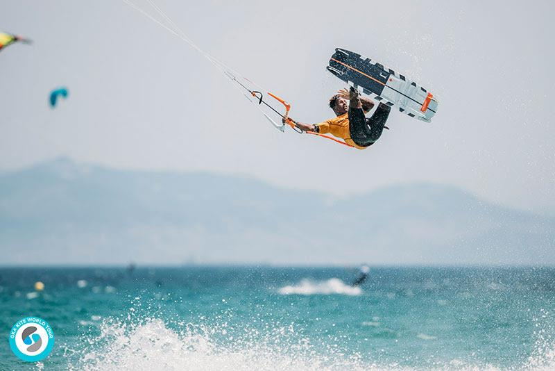 Adeuri Corniel was on fire in Freestyle heat 1 round 1, before conditions dropped back for the remaining three heats - GKA Kite World Cup Tarifa 2019 - photo © Ydwer van der Heide