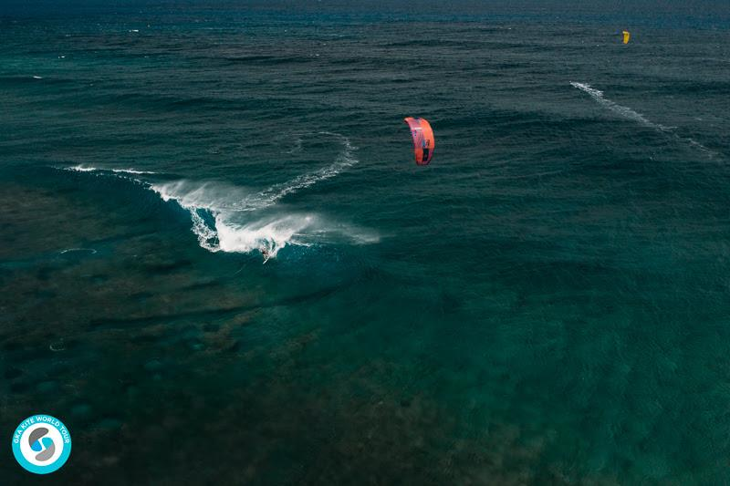 Ninja and Jalou trading waves - 2019 GKA Kite World Cup Mauritius, day 7 - photo © Ydwer van der Heide
