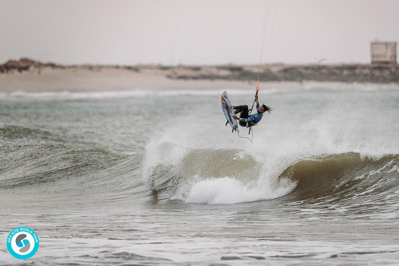 Always something different up his sleeve - Airton's back roll off the lip - GKA Kite World Cup Dakhla, Day 7 - photo © Ydwer van der Heide