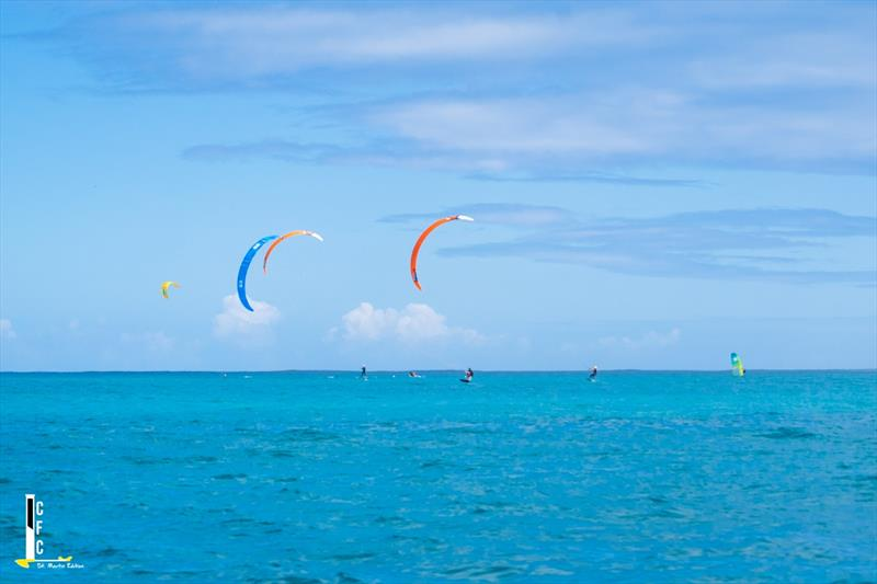 Caribbean Foiling Championships: Start Kitefoil of the only class that raced on Saturday February 22, 2020 - photo © Caribbean Foiling Championships
