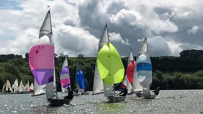 Event winners Chatten and Bailey trailing the Firths, with the Castles close behind during the Banbury Lark Open - photo © Banbury Sailing Club