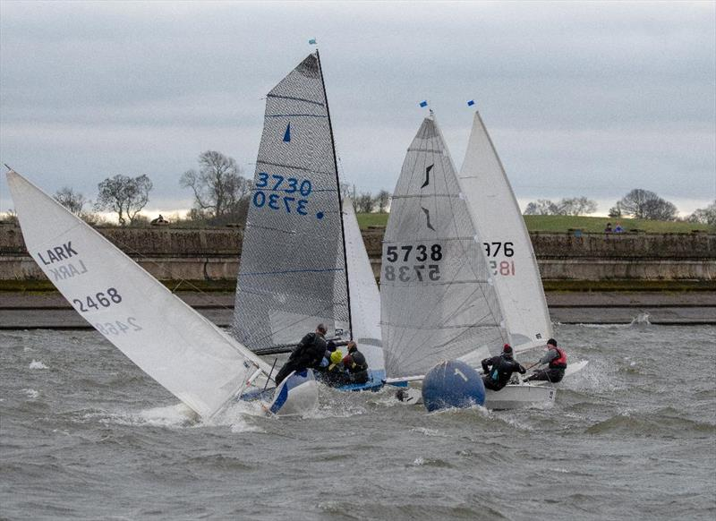 Blithfield Barrel racing photo copyright Iain Ferguson taken at Blithfield Sailing Club and featuring the Lark class