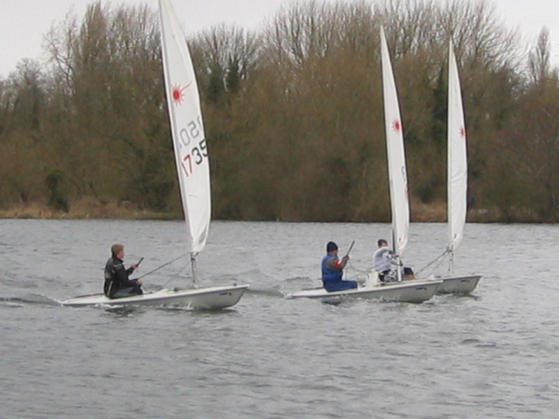 Winds peak at 30 knots for the BLYM Laser Grand Prix photo copyright Dave Blakesley taken at Bury Lake Young Mariners and featuring the Laser class