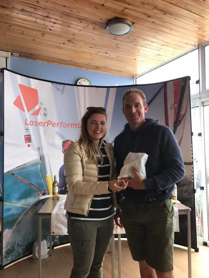 James Gray, first Standard overall and first Apprentice Master in the Laser Masters Qualifier at Pevensey Bay photo copyright Joel Chadwick taken at Pevensey Bay Sailing Club and featuring the Laser class