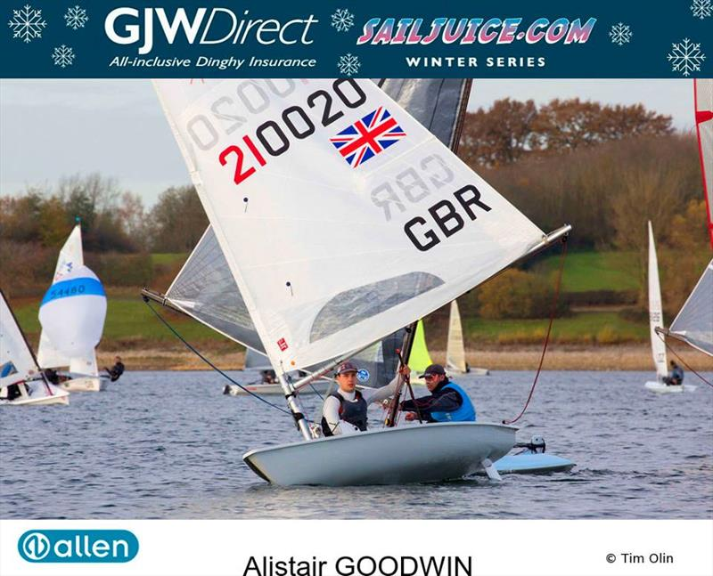 Alistair Goodwin wins the GJW Direct SailJuice Winter Series 2017/18 photo copyright Tim Olin / www.olinphoto.co.uk taken at  and featuring the Laser class