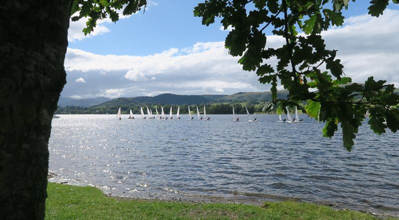 Lasers racing on Ullswater - photo © Sue Giles