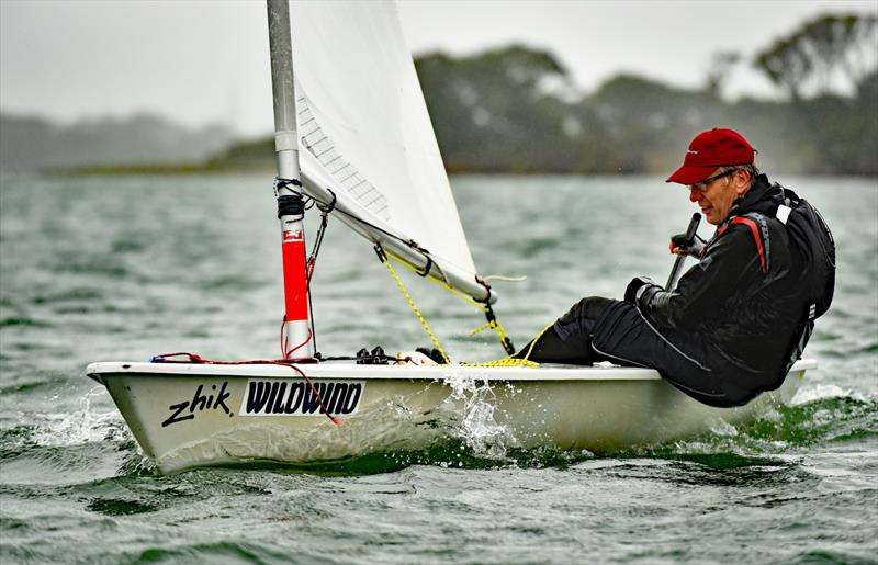 'Wildwind' and a down pour did not stop Ian Payne in his Laser taking part in the Chichester Yacht Club Regatta - photo © Chris Hatton Photography