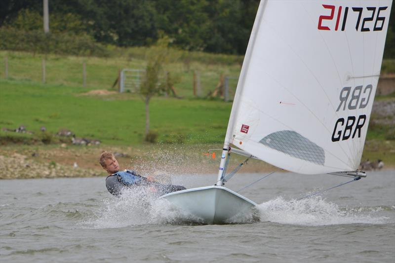 Ben Flower, powers to victory in the Standard fleet during the Laser South Coast Grand Prix at Sutton Bingham - photo © Saffron Gallagher