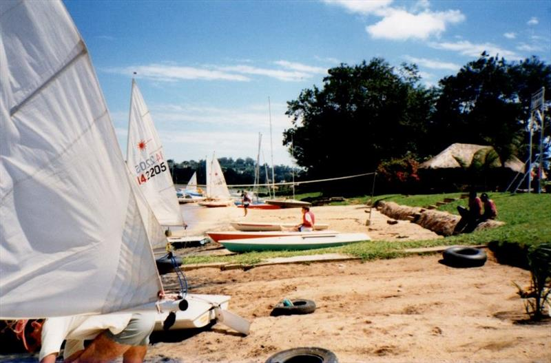 The beach at Entebbe Sailing Club, Uganda - photo © Liz Potter