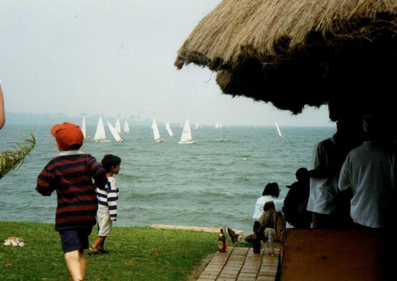 Laser race at Entebbe Sailing Club, Uganda - photo © Liz Potter