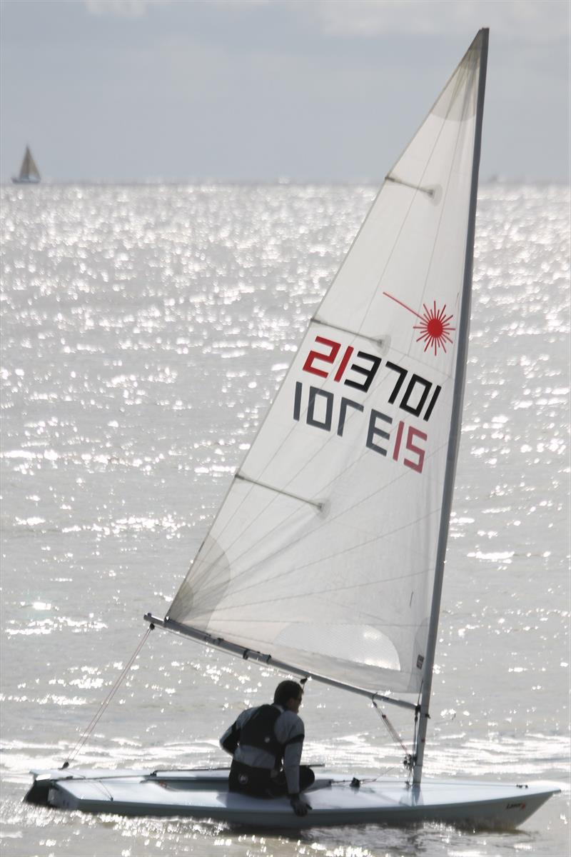Oliver Cage-White won the Dyson Dash Trophy, but only after a countback photo copyright Adrian Trice taken at Broadstairs Sailing Club and featuring the Laser class