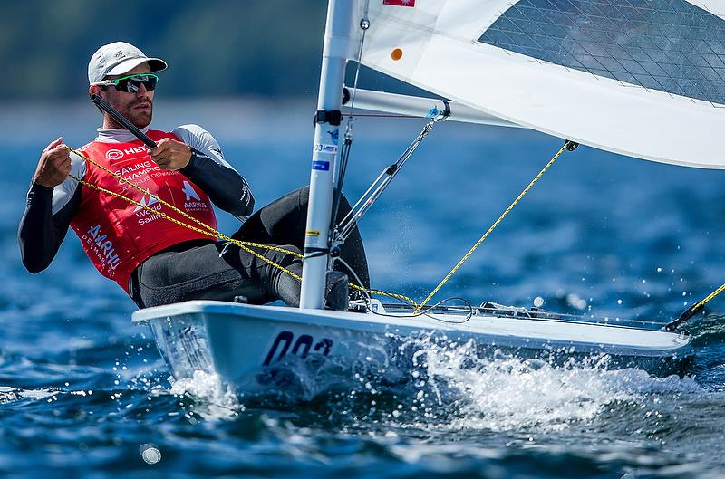 Sam Meech (NZL) - Laser - Day 8 - Hempel Sailing World Championships 2018 - Aarhus, Denmark, August 2018 photo copyright Sailing Energy / World Sailing taken at  and featuring the Laser class
