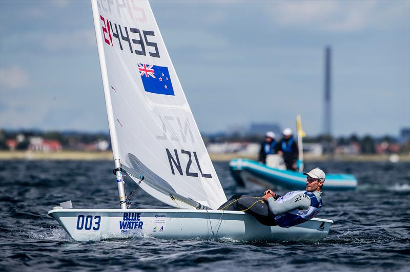Sam Meech - (NZL)- Laser  Day 10 - Hempel Sailing World Championship, Aarhus, Denmark - August 2018 photo copyright Sailing Energy / World Sailing taken at  and featuring the Laser class