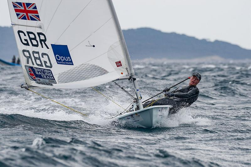 Elliot Hanson in action at French Olympic Week in Hyeres. © FFVoile/Eric Belland - photo © Eric Bellande
