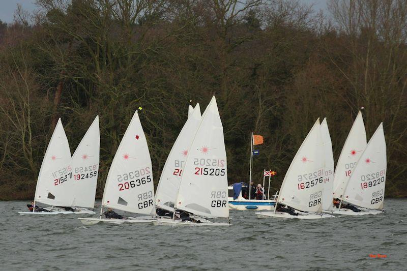 Start of the Laser fleet on week 5 of the Alton Water 2020 Fox's Chandlery & Anglian Water Frostbite Series - photo © Tim Bees