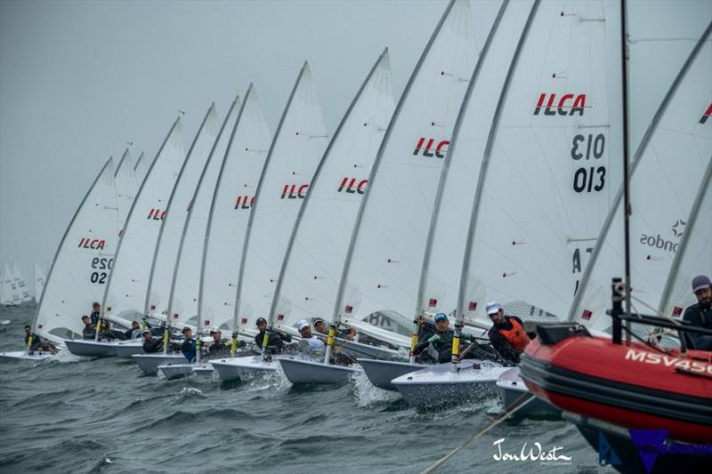 A clear start at 2020 Laser World Championships - photo © Jon West Photography
