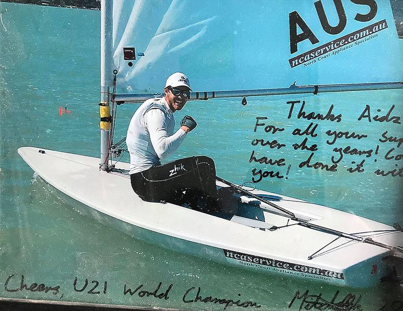 Mitch Kennedy under 21 World Champion Laser Radial that Finglas coached  - photo © Adrian Finglas