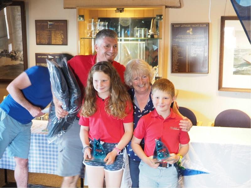 Matt, Gwen and Johnny Sargent take third in the 2000 National Championship photo copyright Chris Jordan taken at East Lothian Yacht Club and featuring the 2000 class