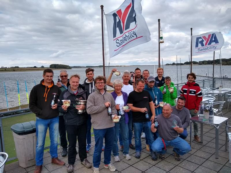 Prize winners in the 4000 Nationals at Rutland photo copyright Tim Litt taken at Rutland Sailing Club and featuring the 4000 class