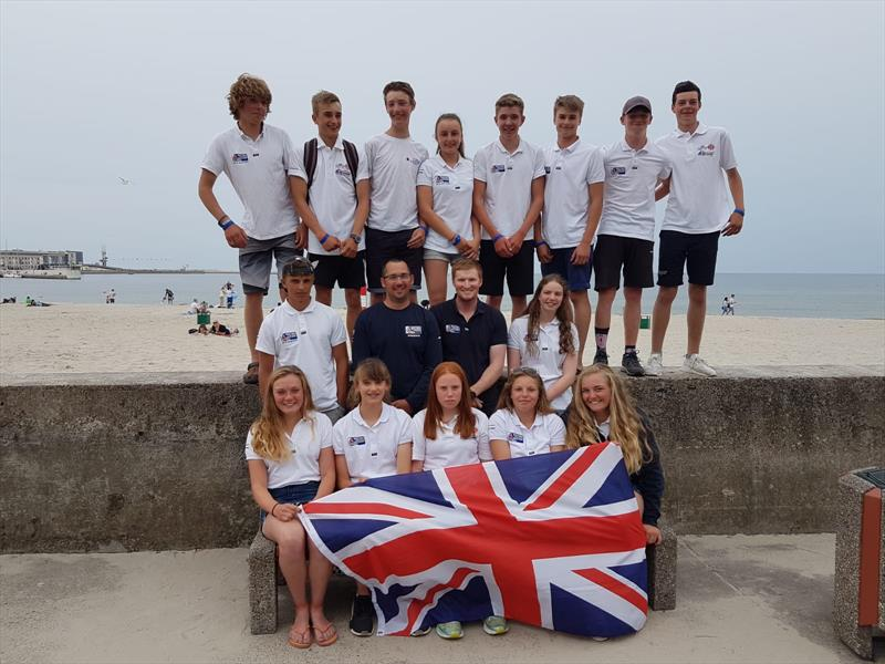 GBR sailors at the 2018 Laser 4.7 World Championships - photo © Ben Nicholls