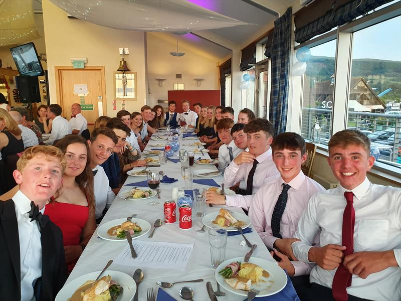 Gala dinner during the the Laser UK National Championships at Largs - photo © Jon Emmett