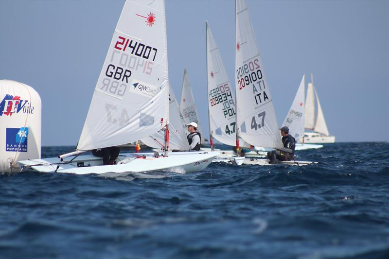 Jack Graham-Troll duing the Laser 4.7 Europeans in Hyeres - photo © Lynne Graham-Troll