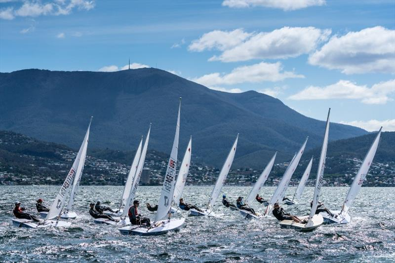 4.7 Fleet - Day 2, Australian Youth Championships 2019 photo copyright Beau Outteridge taken at Royal Yacht Club of Tasmania and featuring the Laser 4.7 class