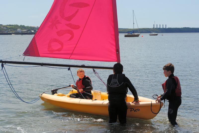 The All Afloat project gives children at Neyland CP School a chance to try sailing - photo © WYA