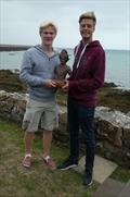William Holden and William Queree, part of Team Jersey, with the Trophee des Isles © SCSC