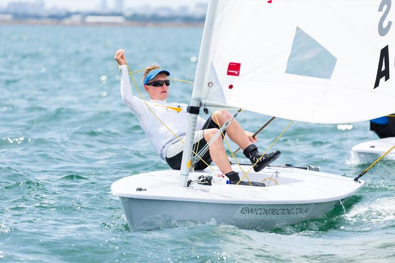 Finn Alexander wins the Laser Radial class at the Yachting NSW Youth Championships - photo © Robin Evans