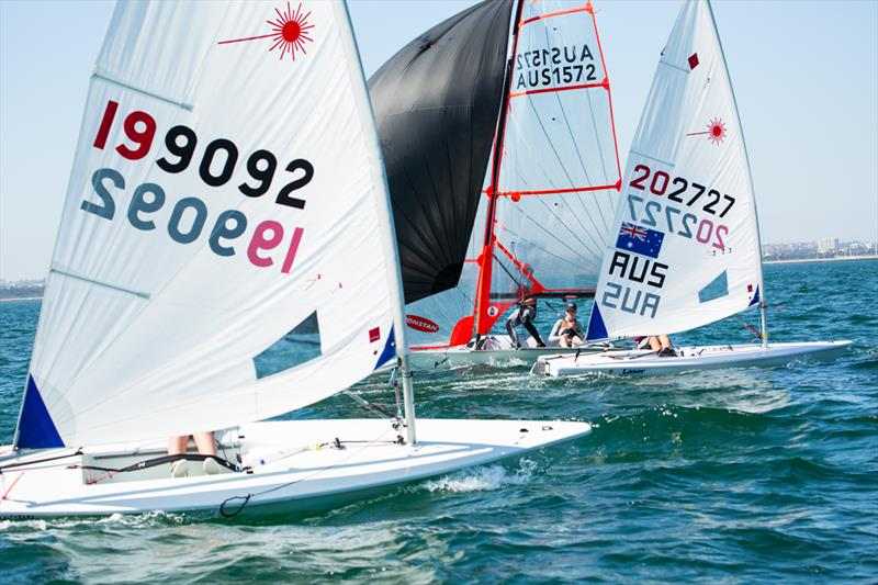New South Wales Youth Championships 2015 photo copyright Robin Evans taken at Georges River 16ft Skiff Sailing Club  and featuring the Laser Radial class