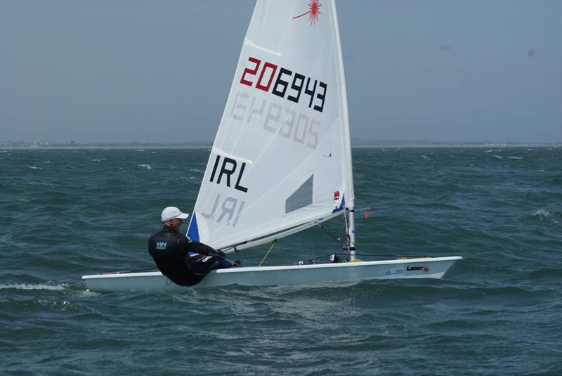 Sean Craig, 1st Radial overall in the Lennon Irish Laser Masters - photo © Heather King