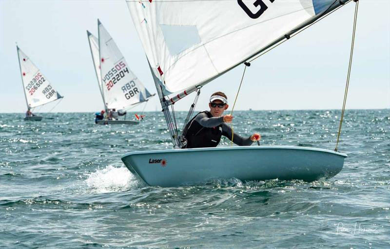 Ben Elvin wins the Radial fleet in the Laser Masters Nationals at Hayling Island photo copyright Peter Hickson / HISC taken at Hayling Island Sailing Club and featuring the Laser Radial class