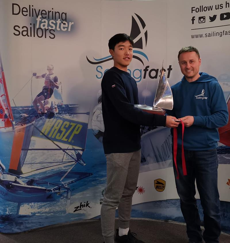 Shotaro Kikkawa, 1st in the Laser Radial Inlands at Grafham photo copyright Keith Videlo taken at Grafham Water Sailing Club and featuring the Laser Radial class