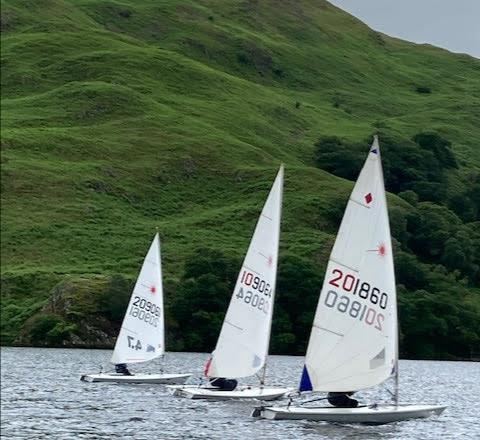 UYC Lasers sailing to the Birkett plaque photo copyright Andrew Bailey taken at Ullswater Yacht Club and featuring the Laser Radial class